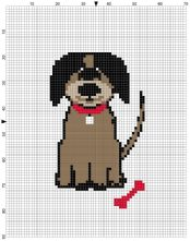 Beginner's Dog Counted Cross Stitch Sewing Kit